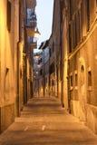 卡梅里诺(3月,意大利)在夜之前 免版税图库摄影
