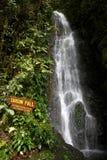 卡森秋天,登上Kinabalu 9月01日2014年:在京那巴鲁山山顶足迹,沙巴马来西亚的第一瀑布 库存图片