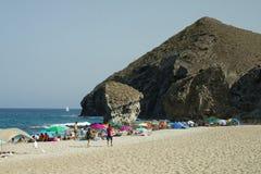 卡沃内拉斯, AlmerÃa,西班牙,威严15日2017年 风景的海滩 免版税库存图片