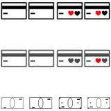 卡片和衡量单位-象 图库摄影