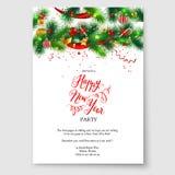 卡片圣诞树装饰 免版税图库摄影