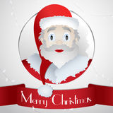 卡片圣诞老人圣诞节2015年-例证横幅 免版税库存图片