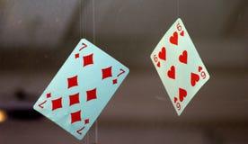 卡片垂悬 免版税库存图片