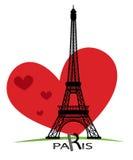 巴黎卡片当标志爱 免版税库存图片