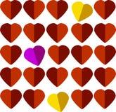 卡片心脏 库存图片