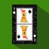 卡片新年` s啤牌 皇族释放例证