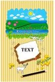 卡片森林 免版税库存图片