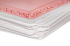 卡片组片段使用 免版税库存照片