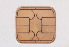 卡片芯片 免版税库存照片
