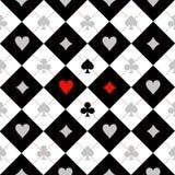 卡片衣服棋盘黑色白色 库存图片
