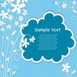 卡片设计框架问候模板 免版税图库摄影