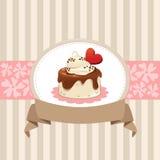 卡片设计用巧克力杯形蛋糕 免版税库存照片