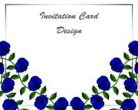 卡片设计花卉垂直 皇族释放例证
