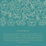 卡片设计花卉垂直 向量例证