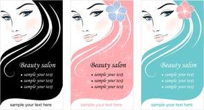 卡片设计表面时髦的模板妇女 免版税库存图片