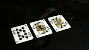 卡片组合黑色 影视素材