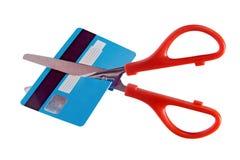 卡片付款的破坏 库存图片