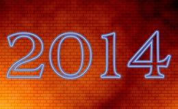 2014卡片 免版税图库摄影