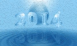 水2014卡片 图库摄影