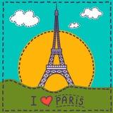卡片巴黎 库存例证
