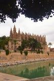 卡特德拉尔de马略卡在马略卡海岛上的帕尔马镇在西班牙 免版税库存照片