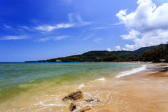 卡玛拉海滩,普吉岛,泰国 免版税库存照片