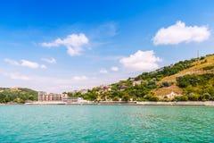 卡瓦尔纳,沿海城市风景在保加利亚 库存图片