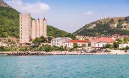 卡瓦尔纳,沿海城市,保加利亚风景  免版税库存图片