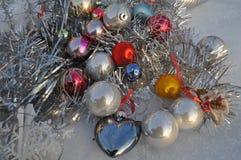 贺卡的圣诞树装饰 图库摄影