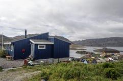 卡科尔托克landskape,格陵兰 免版税图库摄影