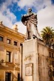 卡米洛托里斯雕象在波哥大哥伦比亚 免版税库存照片