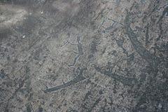 卡累利阿人的刻在岩石上的文字 岩石绘画 库存图片