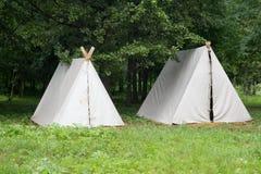 卡累利阿北部俄国帐篷森林 免版税库存图片