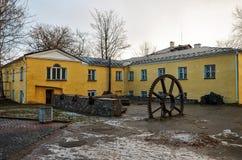 卡累利阿 市的城市风景彼得罗扎沃茨克 2017年11月14日 库存图片