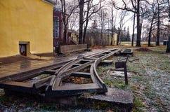 卡累利阿 市的城市风景彼得罗扎沃茨克 2017年11月14日 库存照片