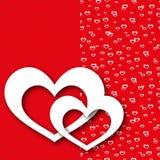 贺卡红色爱心脏 免版税库存图片