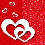 贺卡红色爱心脏 免版税图库摄影
