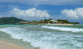 卡约区Cachinos海岛,洪都拉斯 免版税库存照片