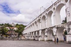 卡约埃尔考斯da Lapa (Lapa曲拱) -里约热内卢 免版税库存图片