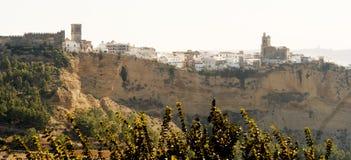 卡约埃尔考斯de弗隆特里la西班牙村庄 图库摄影