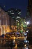 卡约埃尔考斯de Lapa高架桥在圣诞老人特里萨,里约热内卢,巴西 免版税库存照片