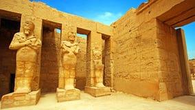 卡纳克神庙寺庙古老废墟在卢克索 免版税库存照片