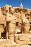 卡纳克神庙寺庙废墟在卢克索,埃及 图库摄影