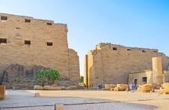 卡纳克神庙寺庙废墟  库存照片