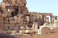 卡纳克神庙寺庙的废墟  库存照片