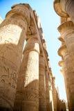 卡纳克神庙寺庙,卢克索,埃及古老废墟  免版税库存图片