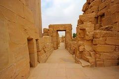 卡纳克神庙寺庙(西比)在卢克索 埃及 免版税库存图片