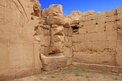 卡纳克神庙寺庙(西比)在卢克索 埃及 库存照片