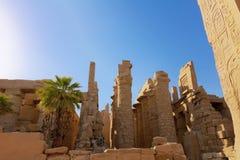 卡纳克神庙废墟  库存照片
