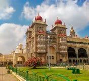 卡纳塔克邦印度州的迈索尔宫殿  库存照片
